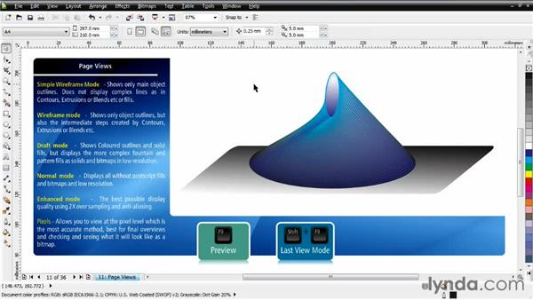 Understanding page views: CorelDRAW Essential Training