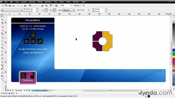 Moving objects: CorelDRAW Essential Training