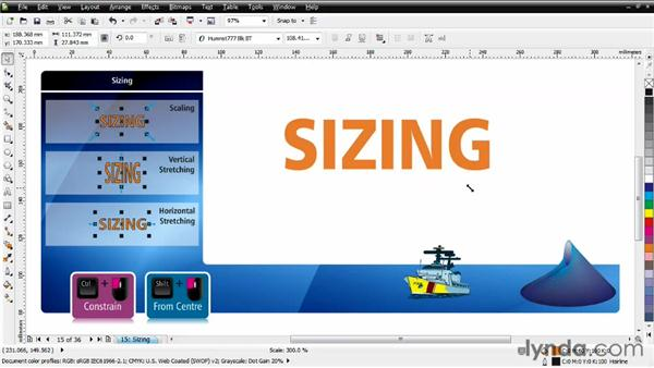 Sizing objects: CorelDRAW Essential Training