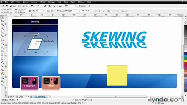 Skewing objects: CorelDRAW Essential Training
