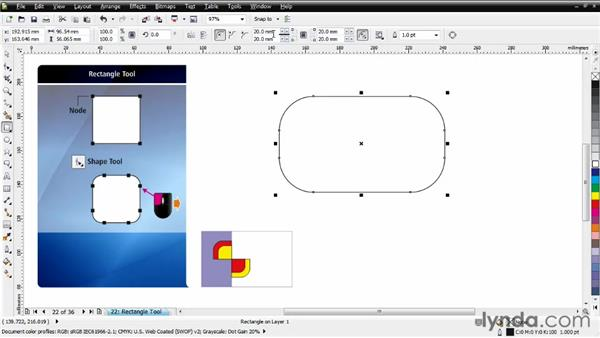 Working with the Rectangle tool: CorelDRAW Essential Training