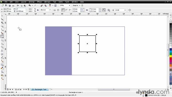 Adding rectangles to a business card: CorelDRAW Essential Training