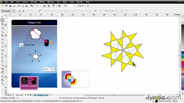 Working with the Polygon tool: CorelDRAW Essential Training