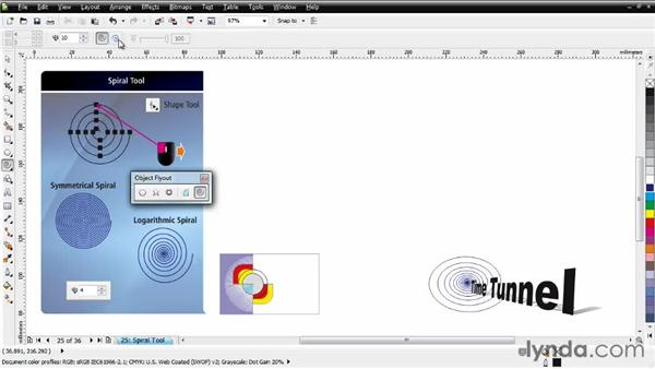 Working with the Spiral tool: CorelDRAW Essential Training
