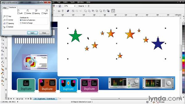 Working with distribution: CorelDRAW Essential Training