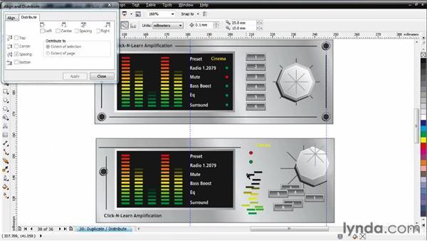 Building an amplifier face: CorelDRAW Essential Training