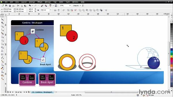 Working with Combine and Break Apart: CorelDRAW Essential Training