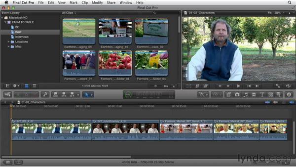 Interpreting a creative brief to establish goals: Documentary Editing with Final Cut Pro X v10.0.9