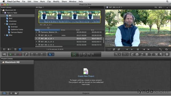Annotating and renaming clips: Documentary Editing with Final Cut Pro X v10.0.9