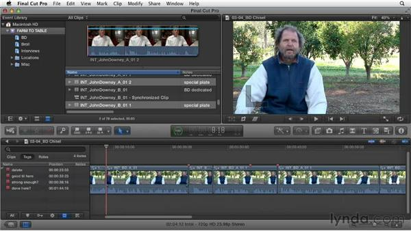 Deciding what you don't want in each segment: Documentary Editing with Final Cut Pro X v10.0.9
