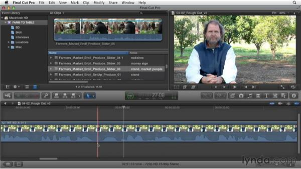 Clarifying the story: Documentary Editing with Final Cut Pro X v10.0.9