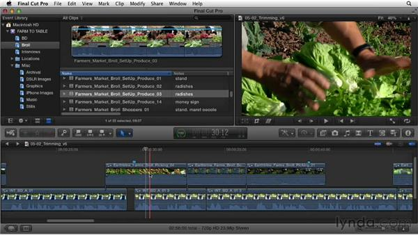 Tying up loose ends: Documentary Editing with Final Cut Pro X v10.0.9