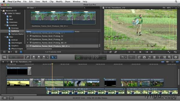 Smoothing out the rough edges with transitions: Documentary Editing with Final Cut Pro X v10.0.9