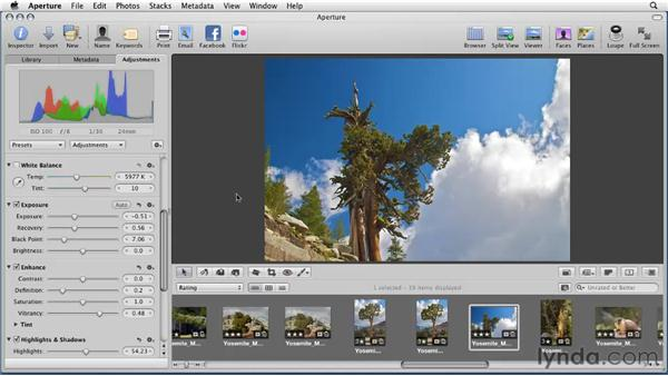 Following the recommended Aperture workflow: Aperture 3 Essential Training (2012)