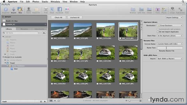Preparing for import: Aperture 3 Essential Training (2012)