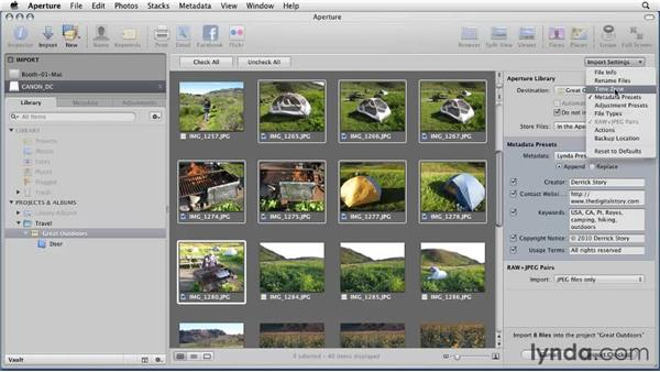 Importing images from a digital camera: Aperture 3 Essential Training (2012)