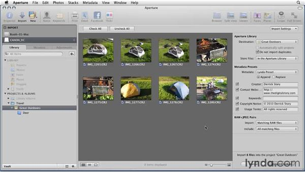 Using the RAW+JPEG option: Aperture 3 Essential Training (2012)