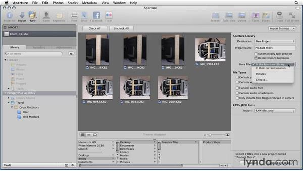 Importing images from a hard drive: Aperture 3 Essential Training (2012)