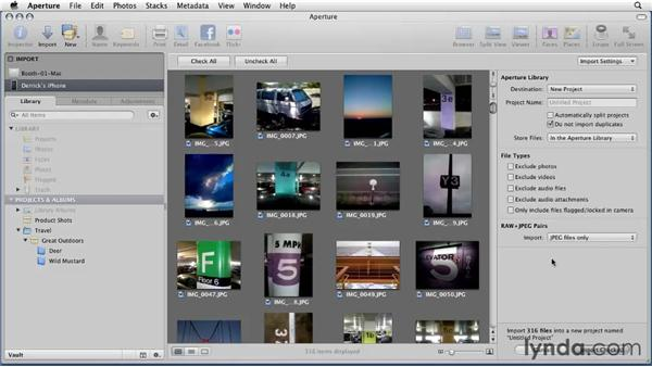 Importing images from an iPhone: Aperture 3 Essential Training (2012)