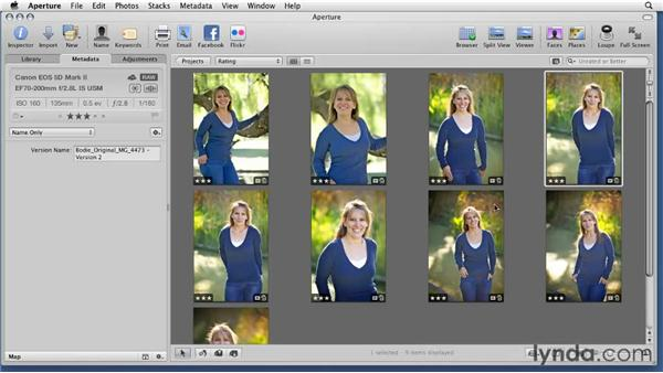 Defining the difference between master and version files: Aperture 3 Essential Training (2012)