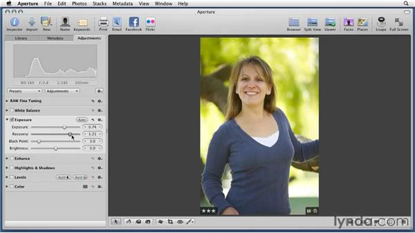Adjusting exposures: Aperture 3 Essential Training (2012)