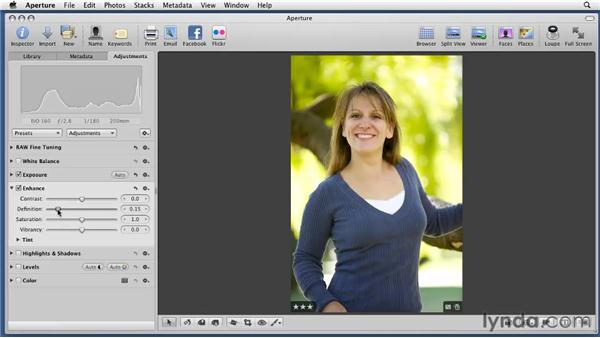 Enhancing photos: Aperture 3 Essential Training (2012)