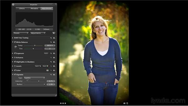 Using the Vignette effect: Aperture 3 Essential Training (2012)