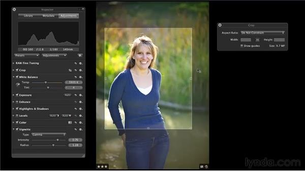 Cropping images: Aperture 3 Essential Training (2012)