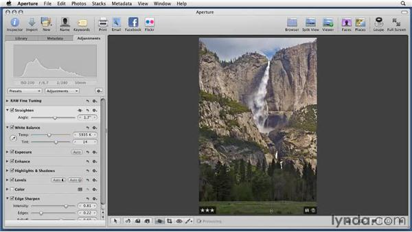 Using Straighten Crop and Flip: Aperture 3 Essential Training (2012)