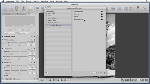 Modifying presets: Aperture 3 Essential Training (2012)