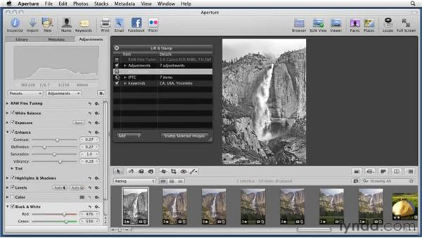 Batch processing with Lift and Stamp: Aperture 3 Essential Training (2012)