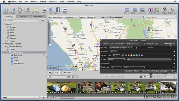 Searching by place: Aperture 3 Essential Training (2012)