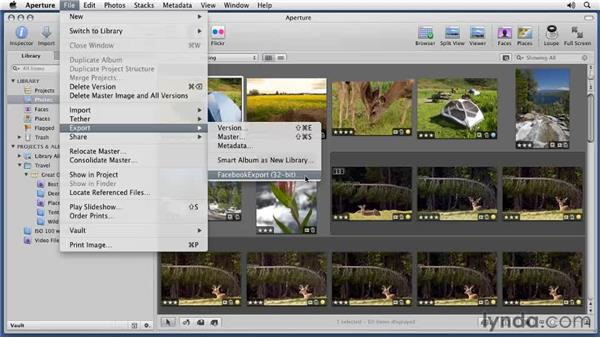 Using the export plug-ins: Aperture 3 Essential Training (2012)
