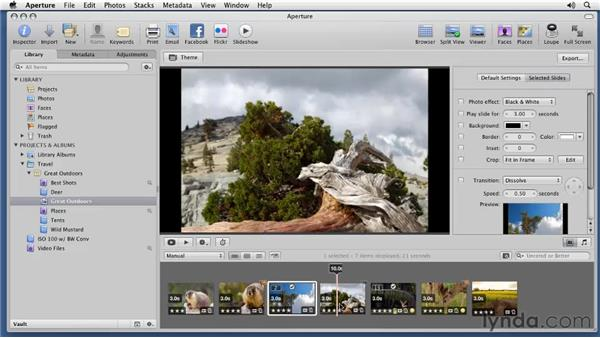 Setting up complex slideshows: Aperture 3 Essential Training (2012)