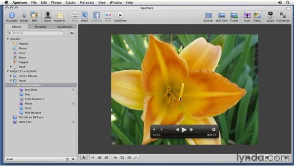 Adding video to your slideshows: Aperture 3 Essential Training (2012)