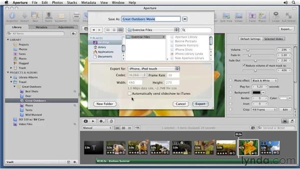 Exporting slideshows: Aperture 3 Essential Training (2012)