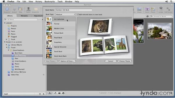 Preparing your book project: Aperture 3 Essential Training (2012)