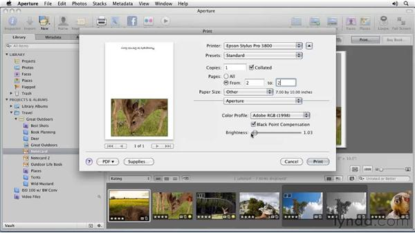 Outputting your book: Aperture 3 Essential Training (2012)