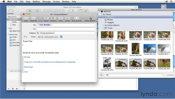 Seeing your Aperture library from other applications: Aperture 3 Essential Training (2012)