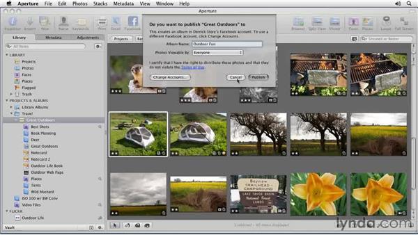 Publishing images to Facebook: Aperture 3 Essential Training (2012)