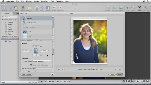 Printing a single image: Aperture 3 Essential Training (2012)