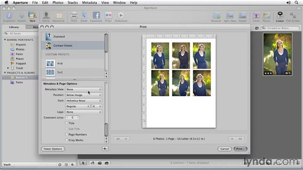 Printing multiple images: Aperture 3 Essential Training (2012)