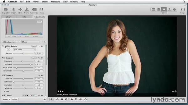 Getting the most out of the advanced white balance adjustment: Aperture 3 Essential Training (2012)
