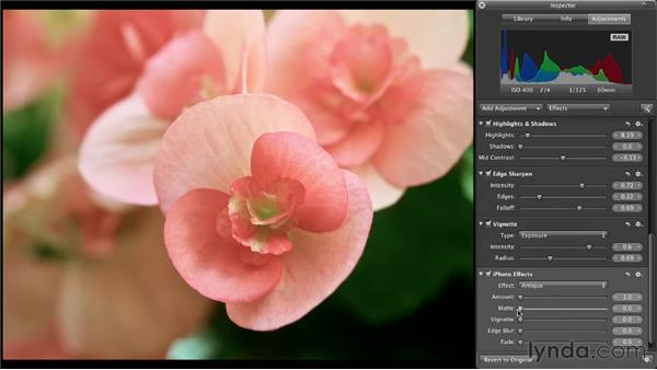 Using iPhoto effects in Aperture: Aperture 3 Essential Training (2012)