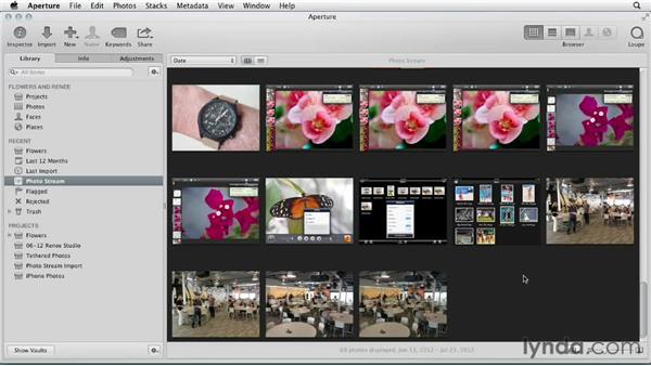 Controlling Photo Stream in Aperture: Aperture 3 Essential Training (2012)