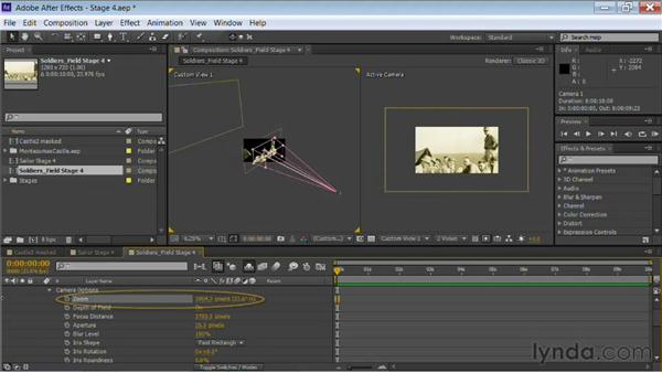 Using multiple views: Motion Control 3D: Bringing Your Photos to Life in Three Dimensions with After Effects and Photoshop CS6