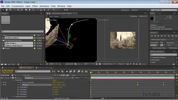 Modifying camera paths: Motion Control 3D: Bringing Your Photos to Life in Three Dimensions with After Effects and Photoshop CS6