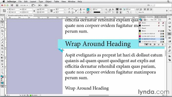062 Creating wraparound headings: InDesign FX