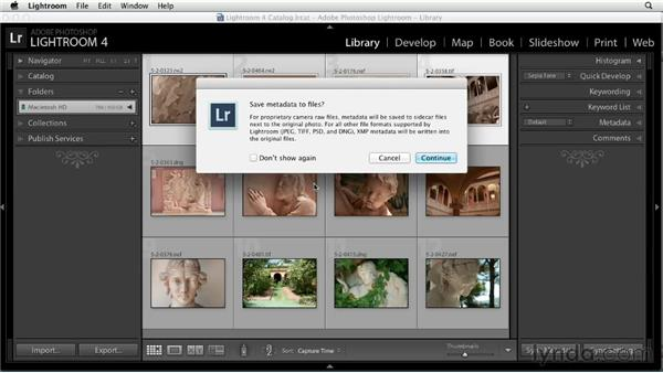 Synchronizing metadata between Lightroom and Bridge: Using Lightroom and Photoshop Together