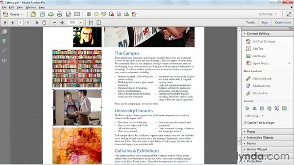 Editing graphics: Up and Running with Acrobat XI